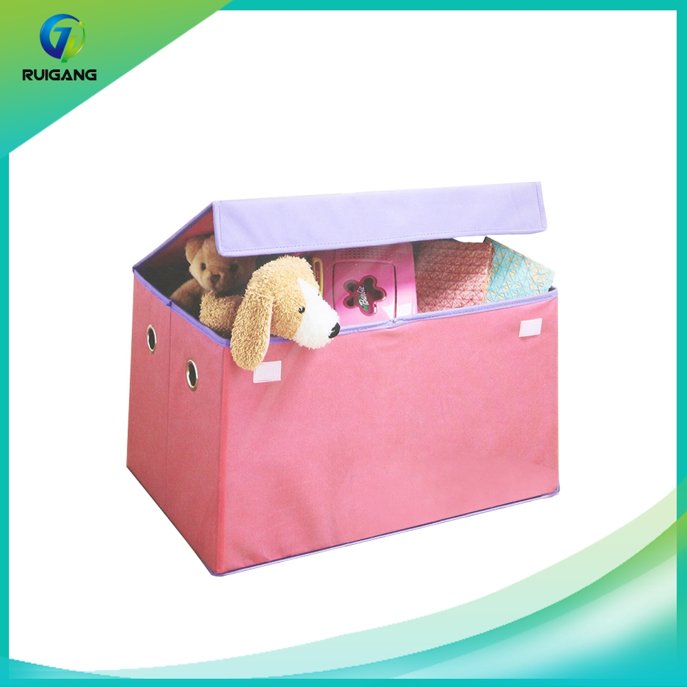 Kid product foldable decorative doll storage box wholesale