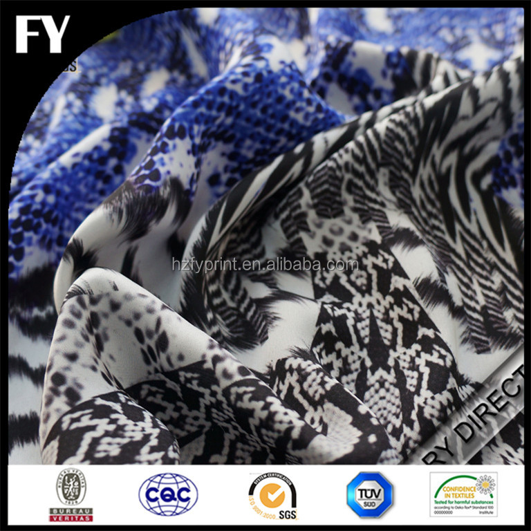 Custom digitally printed cotton lycra fabric