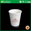 Custom logo printed disposable paper coffee cups for drinking
