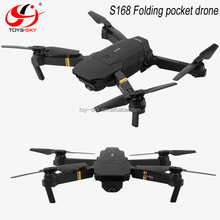 TOYSKY S168 MINI Mavic dron WIFI FPV HD wide angle camera folding pocket drone VS Eachine E58
