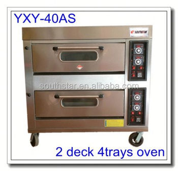 hot sale 2 deck 4 trays gas oven pizza oven price