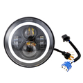 LOYO black chrome 7 inch round led headlight for jeep wrangler