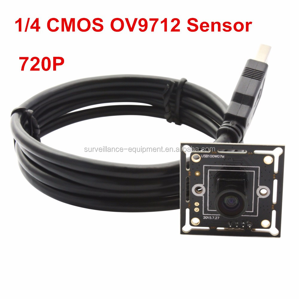 ELP hot selling driverless 720P 60fps 1.0 megapixel hd ov9712 micro M7 mini usb camera module