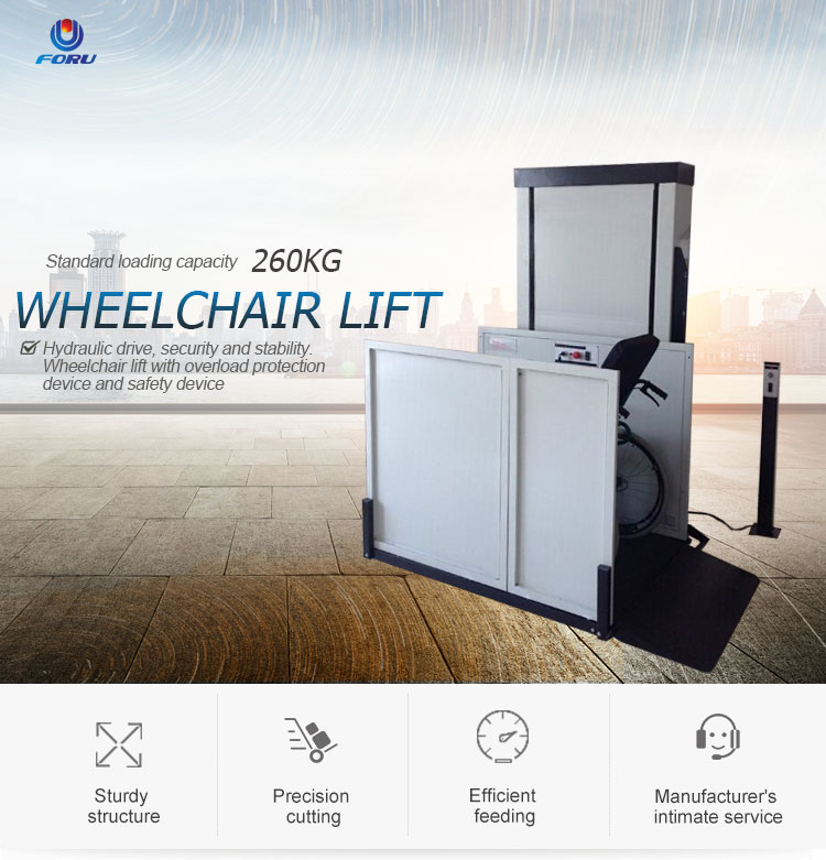 3 m height hydraulic accessibility  vertical platform lift for disabled