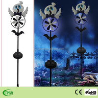 Metal ghost windmill solar stake Halloween decoration garden light