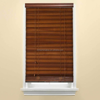 Natural wood window roller shutter blinds for exterior window