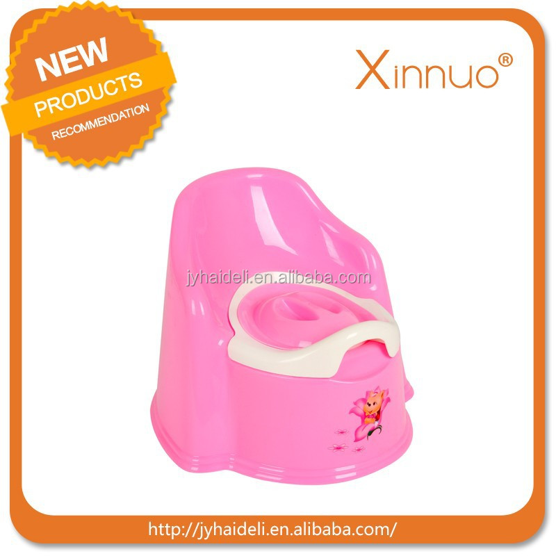 Hot sale colorful plastic baby potty seat plastic child potty chair