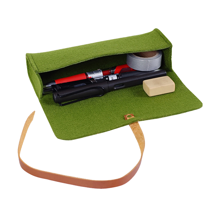 Eco-friesdly simple design pouch felt glasses bag