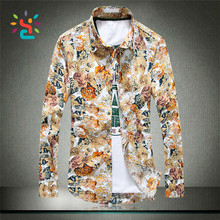 Custom printed Hawaiian Shirt T-shirt Latest vogue Africa floral Business Shirt <strong>Designs</strong> Men