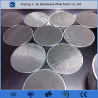 food grade fine stainless steel screen mesh disc / 1 micron filter mesh / wire mesh