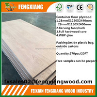trailer wood flooring,28mm container flooring plywood