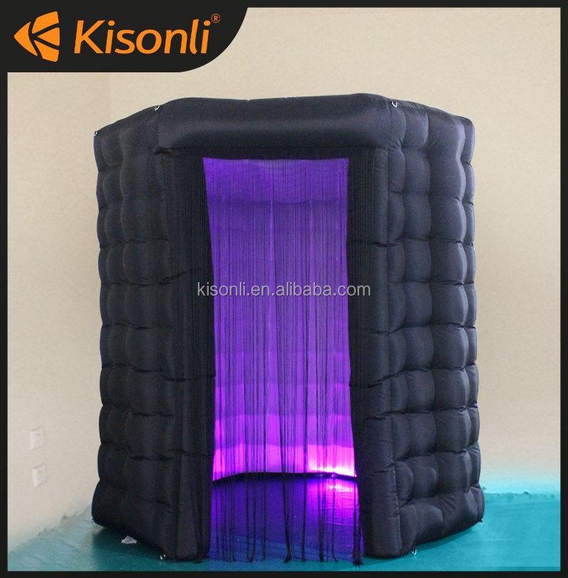 black inflatable photo booth/ inflatable cube tent price for sale