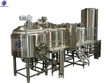 SUS304 2000L beer equipment with beer yeast production