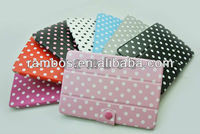 Dots Point Stand Leather Folding Tablet Case for iPad mini