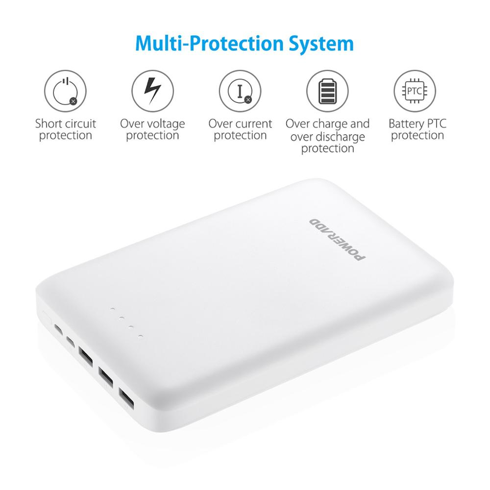 Poweradd Pilot Pro3 30000mAh Powerbank External Battery Pack Portable travel Battery Charger