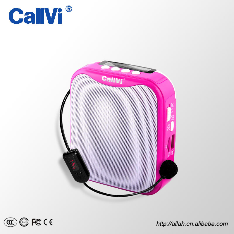 CallVi V-311 Best Selling Mini Portable REC/FM Radio MP3 Professional Wireless Teachers Voice Amplifier Loudspeaker
