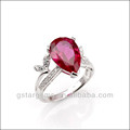 925 Sterling Silver Created Ruby Ring Jewelry Hong Kong Wholesale