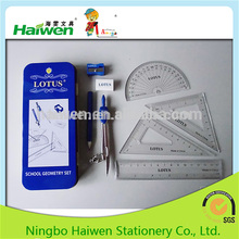 8pcs new design fashion school stationery math set