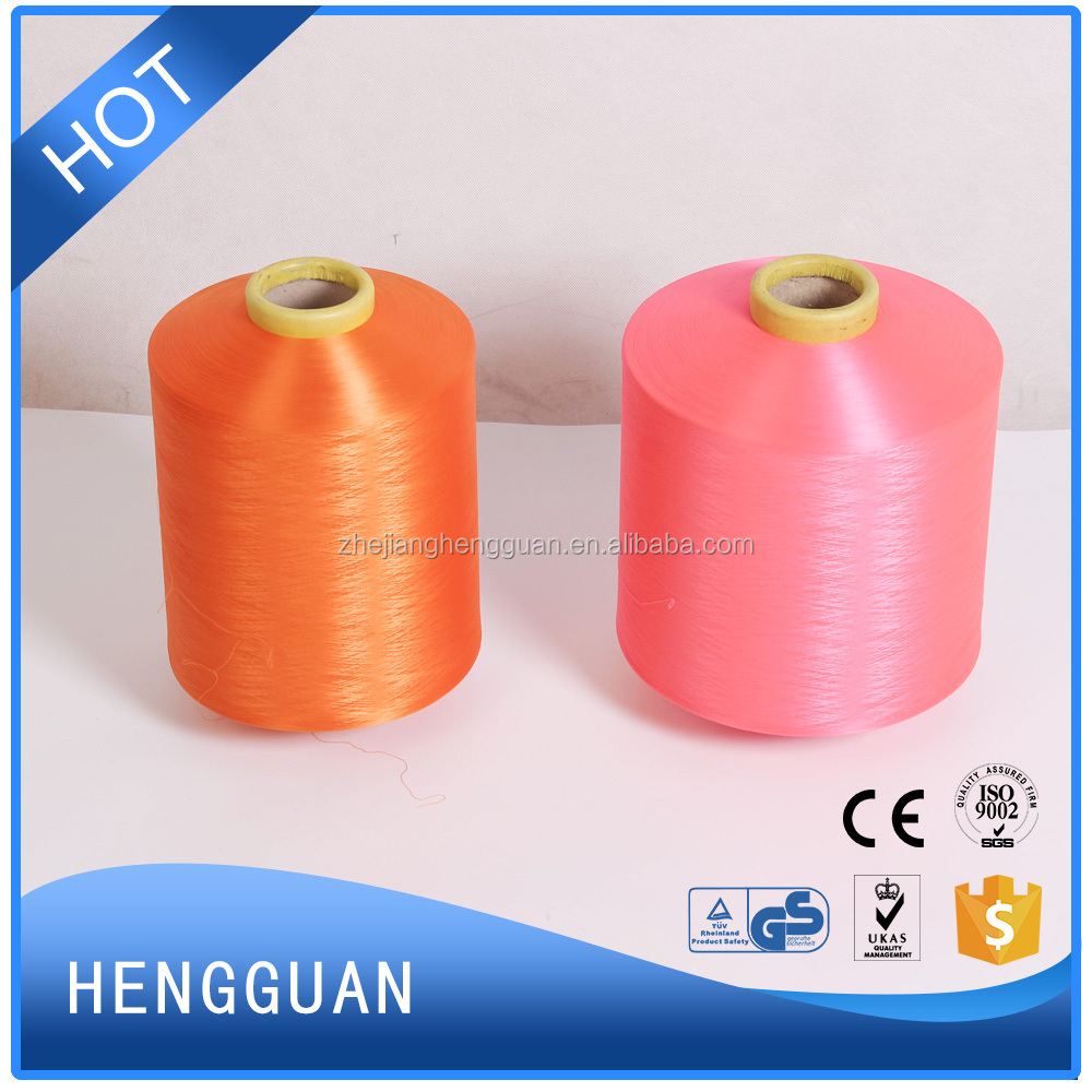 100% Polyester filament DTY Yarn in raw white and Dope Dyed Colors cheap price