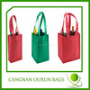 recycled six bottle non woven wine bag
