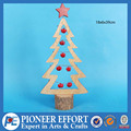 2017 Wooden Christmas tree table decoration with red bell