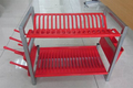 2 layer plastic kitchen PLATE RACK in red color