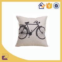 Wholesale Custom Vintage Bicycle Car Seat Pillow Cases Cushion Covers 18x18 Inch For Home Decor