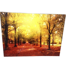 autumn landscapes fiber led wall canvas picture with led light