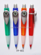 promotional cheap ball point pen with compass and logo printing available