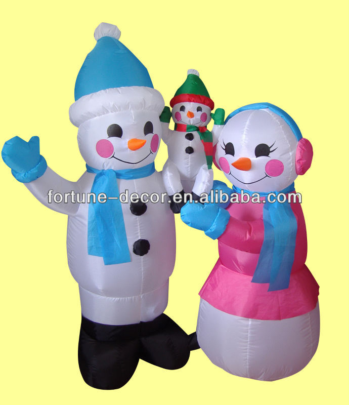 150cm Christmas inflatable snowman family