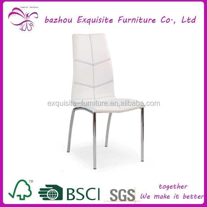 cheap white and black weather metal leg dining chair for wholesale