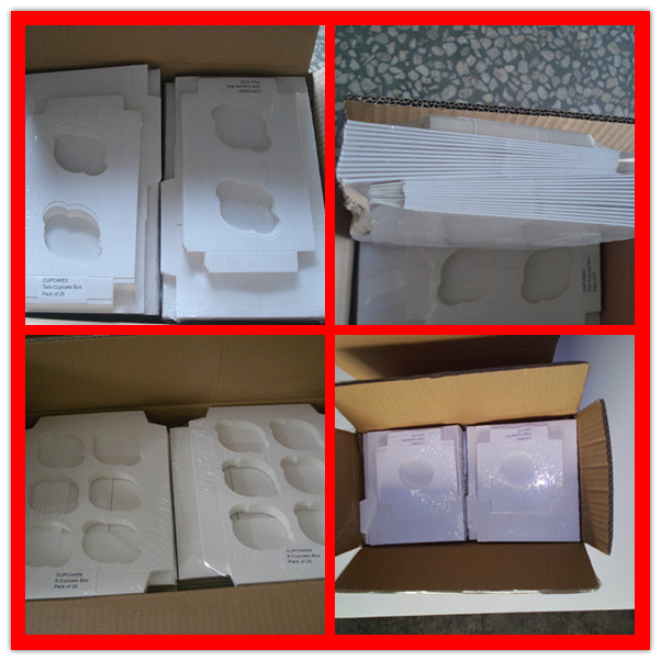 decorative food grade paper boxes ,white cupcake boxes with window