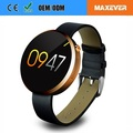 "MTK2502 BT4.0 1.22"" IPS Round Touch Screen Heart Rate Monitor DM360 Smart Watch"