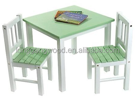 Colorful Kindergarten Wooden Furniture Set Kids Wood Table