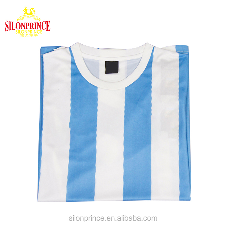 Argentina1986 Memorial football club jersey 100% Polyester Breathable custom football t-shirt
