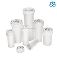 Reversible Lid Cap Bottles Rx Pill Pharmacy Vials Storage Container For Medicine