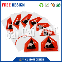 Most popular factory price durable custom shape epoxy bottle cap stickers