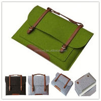 Advertising Eco friendly 12 inch polyester felt laptop bag