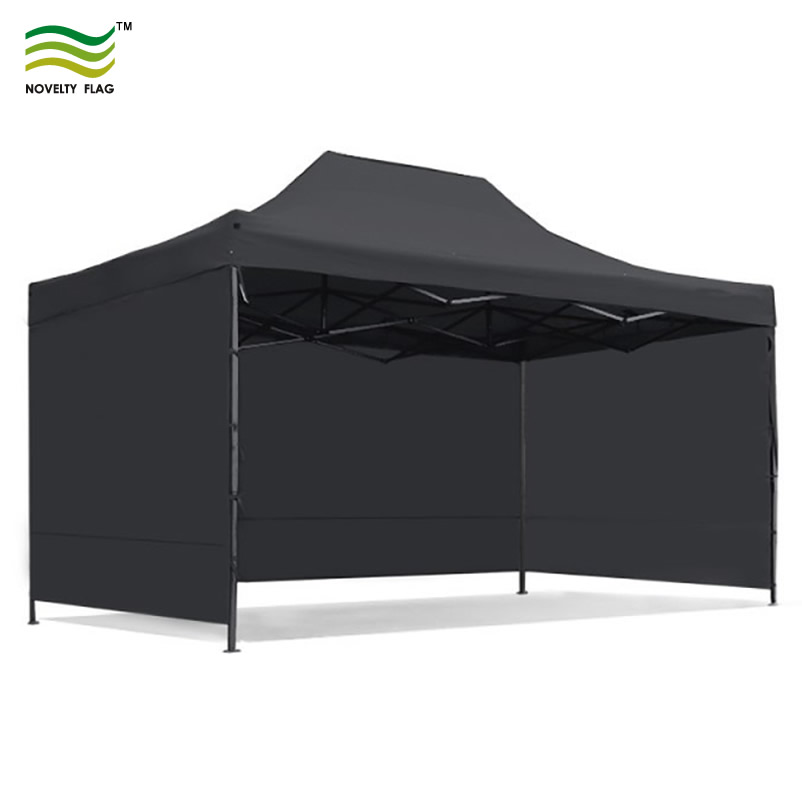 3x4.5m Black Tent without Printing
