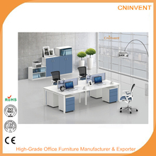 Modern office workstation desk with table top screen,office glass screen workstation