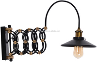 Scalable stair vintage industrial iron wall lamp light wall sconce