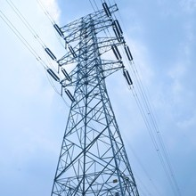 400KV Lattice Steel Tower Electric Transmission Line steel tower
