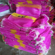 Pink color garlic mono mesh bag to India Pakistan and South America