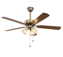 52 inch decorative mini energy saving remote control motor led ceiling fan ceiling with light