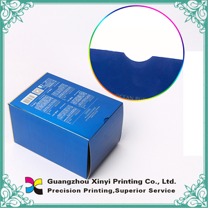 Wholesale blue color folding paper box package box manufacturers