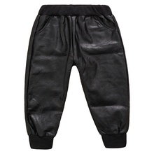 New Style Wholesale Soft Material <strong>Boy's</strong> <strong>Pants</strong> Children Fashion Leather <strong>Pants</strong>