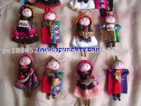 Andean nice Dolls Magnets Peru Hand made