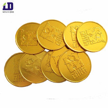 Wholesale High Quality Gold Color Aluminum Coin