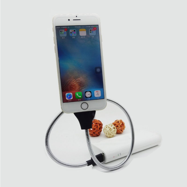 2017 Amazon hot selling flexible stand cable fast charging usb charger cable for android 8 pin cable for iphone 7