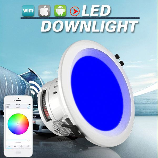 wifi <strong>downlight</strong> led RGB <strong>downlight</strong> with rf wireless remote controller 12w